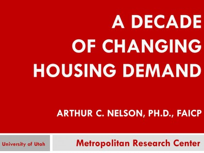 A Decade of Changing Housing Demand