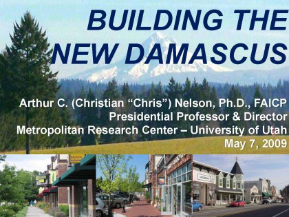 Building The New Damascus