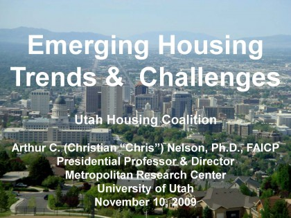 Emerging Housing Trends & Challenges