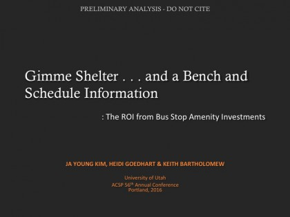 Gimme Shelter… and a Bench and Schedule Information