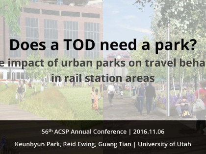 The Impact of Urban Parks on Sustainable Travel Behavior in Station Areas