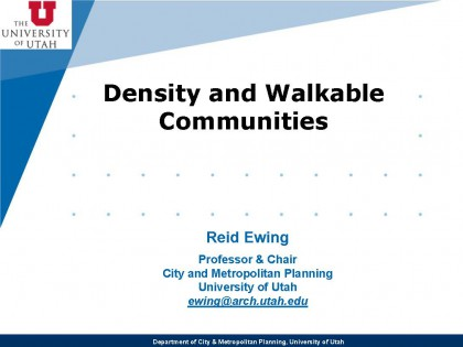 Density and Walkable Communities