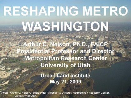 Reshaping Metro Washington