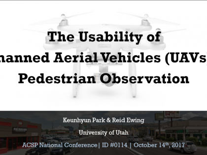 The Usability of Unmanned Aerial Vehicles (UAVs) for Pedestrian Observation