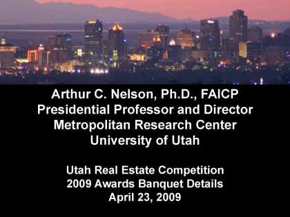 Utah Real Estate Competition 2009 Awards Banquet Details