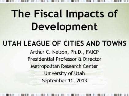 The Fiscal Impacts of Development