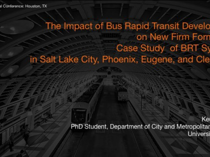 Impact of BRT Development on New Firm Formation