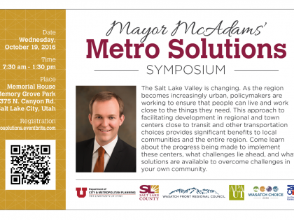Mayor McAdams' Metro Solutions Symposium