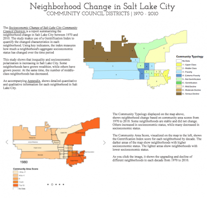 The Socioeconomic Change of Salt Lake City Community Council Districts 1970-2010